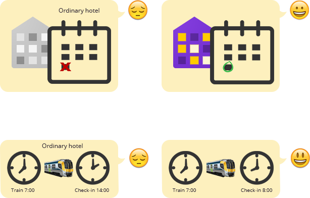 No checkout time